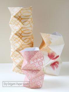 DÏY: Origami Paper Vases <3
