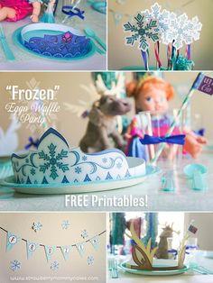 Frozen themed Birthday Party with FREE PRINTABLES via Kara's Party Ideas | Cake, decor, cupcakes, games and more! KarasPartyIdeas.com #FREEPRINTABLES #frozenparty