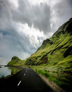 Iceland... Newest addition to the places I'd love to go. Looks hauntingly beautiful! #isadoreapparel #roadisthewayoflife #cyclingmemories
