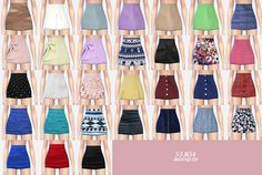 [fix!!! ]H-line_tight mini-skirts & GBL h-line mini skirt _h라인 타이트 미니스커트 & GBL 미니 스커트_여성 의류 - SIMS4 marigold