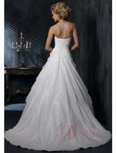 2011 Sweetheart Wedding Gown Dress Sweep Train Satin WD-094