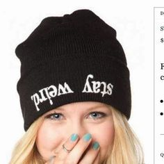 beanies for girls with sayings - Google Search  b71fb251817f