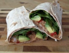 Refried Bean & Avocado Lavash Sandwich