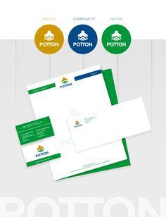 Papeterie, cartes d'affaires, enveloppes, branding https://www.behance.net/gallery/58087387/Municipalit-de-Potton