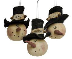 Stuffed Snowman Head Ornaments - Craft Wholesalers -- CWI