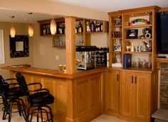 Bar with Built-in Cabinetry