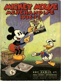 Kamen produced his first catalog of Disney merchandise in 1934. Seven other catalogs were issued in 1935, 1936-37, 1938-39, 1940-41, 1947-48 and 1949-50.