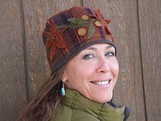 My friend, wearing one of my hat designs, tominerfolkartblog