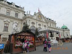 Christmas market @Belvedere Palace in Vienna