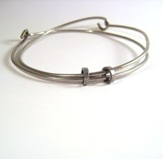 Recycled Bicycle Spoke Bangle  Orbiting by TheRecycledBicycle, $20.00