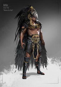 Aztler - render version by Skyrawathi on DeviantArt Fantasy Character Design, Character Design Inspiration, Character Concept, Character Art, Fantasy Armor, Dark Fantasy, Dnd Characters, Fantasy Characters, Armor Concept