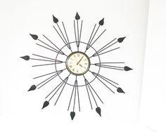 Starburst Clock Mid Century Modern Wall Clock  Sun by #BeeJayKay #etsy #teamvam