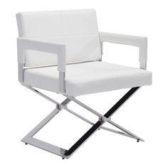 Yes Dining Chair White Chromed Steel