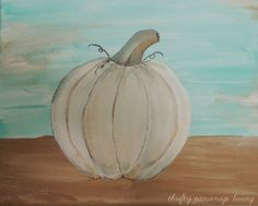 Thrifty Parsonage Living: DIY FALL ARTWORK - PAINTED PUMPKIN