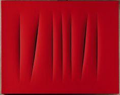 Visual response for Jil Sander SS Lucio Fontana (Spatialism) Guy Debord, Lucio Fontana, In Loco, Barnett Newman, Art Rules, Action Painting, Red Art, Mark Rothko, Art For Art Sake