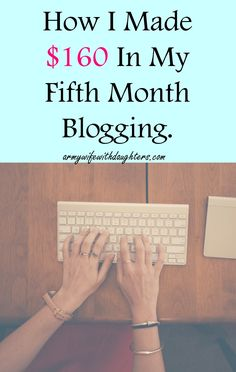 How I earned $160 in my fifth month as a blogger. Blogging income and traffic report. Blogging can be a great source of income. See how I made money in July