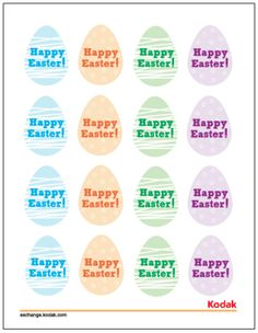 Free downloadable printable! Easter Egg Cupcake Toppers.