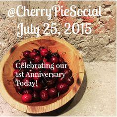 Happy Anniversary to us!!! Cherry Pie Social celebrates 1 year! Who knew!? #socialmedia #socialmediamarketing #agency