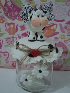 Resultado de imagen para tutorial de frasco decorado en porcelana fria