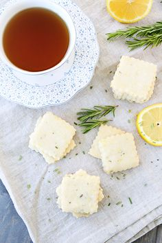 Two Peas and Their Pod | Lemon Rosemary Shortbread Tea Cookies