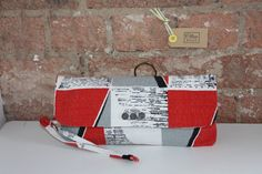 Betty clutch bag vintage fabric handmade in London by Oliveroad