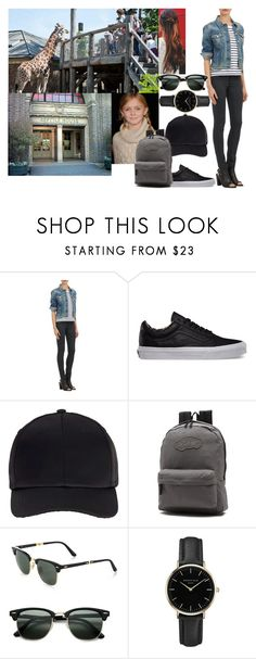 """Visiting the London Zoo with her Cousin Sophie"" by midnightkiss98 ❤ liked on Polyvore featuring rag & bone, Vans, Miss Selfridge, Ray-Ban and ROSEFIELD"