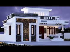 1200 Sq Ft 2 Bedroom House and Plan House Balcony Design, Single Floor House Design, House Outside Design, 2 Storey House Design, Village House Design, Kerala House Design, Bungalow House Design, House Design Photos, House Front Design