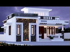 1200 Sq Ft 2 Bedroom House and Plan House Balcony Design, Single Floor House Design, House Outside Design, Village House Design, Kerala House Design, House Design Photos, Bungalow House Design, House Front Design, 2 Bedroom House Design