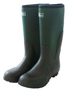 Jileon Warm Neoprene Wide Calf Rain Boots  Fully Waterproof  Fit up to 19 Inch Calf 8 XW ** Check out this great product.