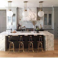 best modern kitchen design and interior ideas 2018 Home Decor Kitchen, Interior Design Kitchen, New Kitchen, Art Deco Kitchen, Kitchen Hacks, Gold Kitchen, Kitchen Ideas, Interior Ideas, Interior Decorating