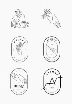atinge-process-by-cocorrina // Logo Hände // Hände - Grafik Design Shape Design, Design Art, Design Ideas, Logo Design Simple, Graphic Design Logos, Brand Logo Design, Simple Logos, Minimal Logo Design, Line Design