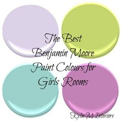 Benjamin Moore has the best paint colours for a girls room. From Palladian Blue to Pale Avocado, Lily Lavender and so many more...