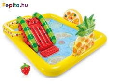 Intex Fun'N Fruity Outdoor Inflatable Kiddie Pool Play Center with Slide Kid Pool, Water Party, Above Ground Swimming Pools, Colorful Fruit, Play Centre, Water Slides, Vinyl, Rafting, Cool Stuff