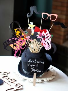 #Photobooth #props are a must-have! {Heather Smith Photography}