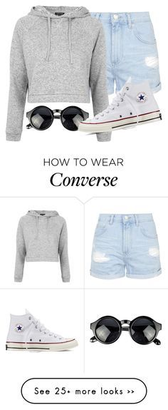 """""""School :,("""" by fungirl1forlife on Polyvore featuring Topshop and Converse"""