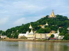Across the Irrawaddy River from Mandalay you will find Sagaing.  Here, pagodas adorn the hillside, sparkling in the sunlight, making for a beautiful sight.  Sagaing takes around 1 hour to reach from Mandalay, and combines well when visiting Inwa as well.