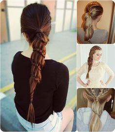 lace braided ponytail with cheap clip in hair extension