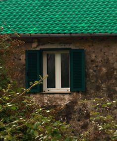Fenster in Ligurien, Imperia Italien, Itali, Italia, Italy