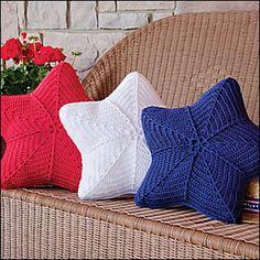 Star pillows #crochet