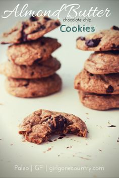 Chocolate Chip Almond Butter cookies (gf, paleo)