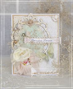 Crafting Life's Pieces: Love is patient, Love is kind - Shabby chic love card