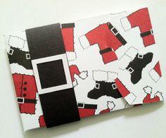 Santa Gift Card Holder, Christmas Gift Card Holder, Holiday