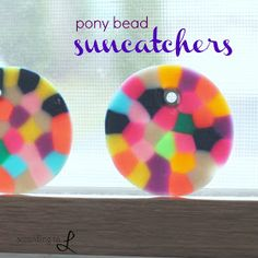 According to L: Pony Bead Suncatchers glass beads: http://www.ecrafty.com/c-2-glass-beads.aspx