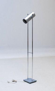 Jo Hammerborg; Chromed Metal 'Trombone' Floor Lamp for Fog & Morup, 1960s.