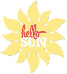 Summer Sun free cutting file - by Kerri Bradford #Silhouette #CutFile