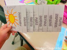Planets flip book and sooo much more! Great ideas for teaching a space unit! Main idea, sequencing, it's all there!