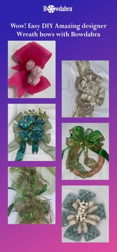 Sandy Sandler, the creator of Bowdabra, is sharing with you some of the magnificent Wreath Bow tutorials using Bowdabra Bow Makers Dyi Crafts, Creative Crafts, Preschool Crafts, Decor Crafts, Crafts To Make, Wreath Bows, Diy Wreath, Wreaths, Halloween Crafts