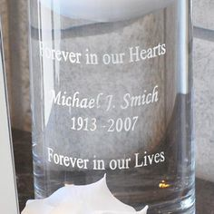 Floating Memorial Candle and Frame Set honors loved ones who have passed. At your ceremony, display frame with photo and light the memorial candle. Funeral Gifts, Picture Frame Sets, Cricut, Wedding Scrapbook, Frame Display, On Your Wedding Day, Hand Blown Glass, Wedding Accessories, Vase