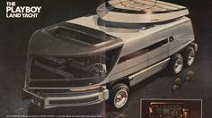In Playboy magazine commissioned futurist designer Syd Mead to illustrate the Playboy Land Yacht, a self-driving futuristic bachelor pad on (six) Playboy, Syd Mead, Retro Futuristic, Futuristic Vehicles, Futuristic Design, Yacht Design, Camping Car, Self Driving, Night Driving