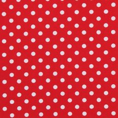 red with white polka dots fabric - Google Search